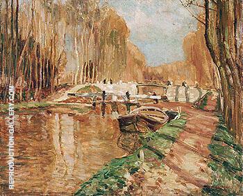 Canal du Loing near Episy 1909 By A Y Jackson
