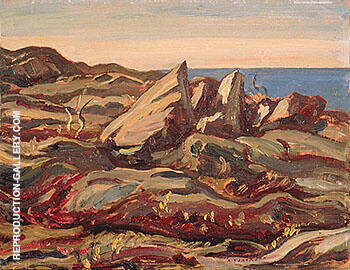 Cobalt Island 1950 By A Y Jackson - Oil Paintings & Art Reproductions - Reproduction Gallery