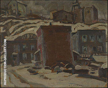 Cobalt Ontario 1932 By A Y Jackson - Oil Paintings & Art Reproductions - Reproduction Gallery