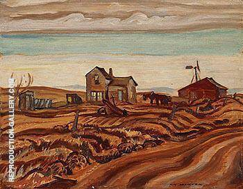 Drought Area Alberta 1937 By A Y Jackson - Oil Paintings & Art Reproductions - Reproduction Gallery