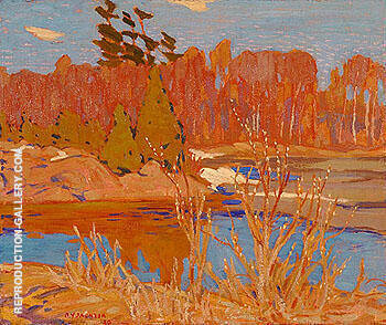 Early Spring Georgian Bay 1920 Painting By A Y Jackson