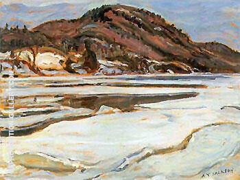 Early Spring Lievre River By A Y Jackson