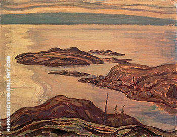 Eldorado Mines Labine Point 1938 By A Y Jackson - Oil Paintings & Art Reproductions - Reproduction Gallery