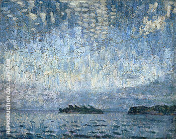 Evening Georgian Bay c1905 By A Y Jackson - Oil Paintings & Art Reproductions - Reproduction Gallery
