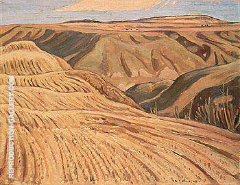 Farmland at Fort St John North of Dawson Creek 1943 By A Y Jackson - Oil Paintings & Art Reproductions - Reproduction Gallery
