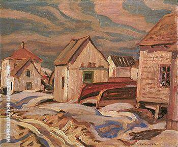 Fox River Gaspe 1936 II By A Y Jackson - Oil Paintings & Art Reproductions - Reproduction Gallery