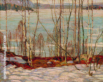 Frozen Lake Early Spring Algonquin Park 1914 Painting By A Y Jackson