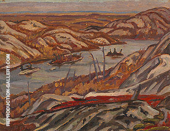 Grace Lake Algoma 1939 By A Y Jackson - Oil Paintings & Art Reproductions - Reproduction Gallery