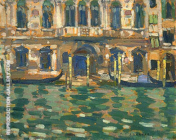 Grand Canal Venice 1912 By A Y Jackson - Oil Paintings & Art Reproductions - Reproduction Gallery