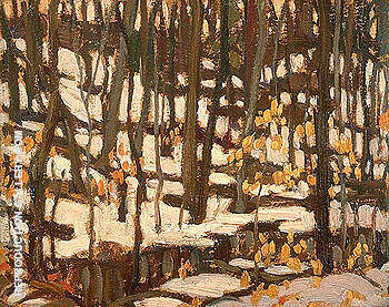 Grey Day in the Woods 1920 Painting By A Y Jackson - Reproduction Gallery