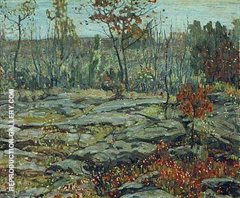 Reproduction of Huckleberry Country 1913 by A Y Jackson | Oil Painting Replica On CanvasReproduction Gallery