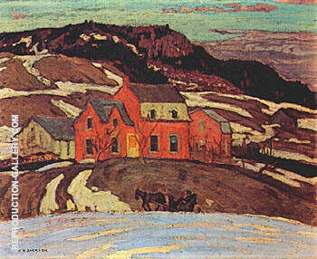 Reproduction of Early Spring Quebec 1923 by A Y Jackson | Oil Painting Replica On CanvasReproduction Gallery