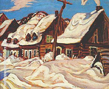 Houses St Urbain c1934 By A Y Jackson