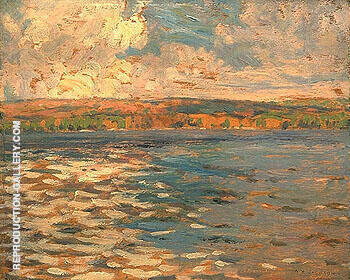 Lake 1913 By A Y Jackson - Oil Paintings & Art Reproductions - Reproduction Gallery