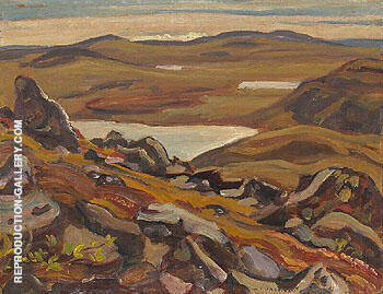 Looking South from Teshierpi Mountain 1950 By A Y Jackson - Oil Paintings & Art Reproductions - Reproduction Gallery