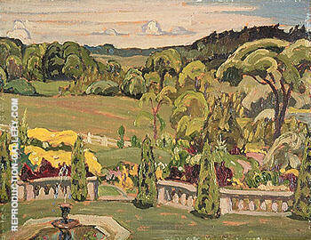 Massey Gardens at Port Hope 1930 By A Y Jackson