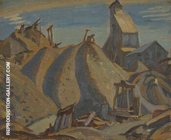 Mine Cobalt Ontario 1932 By A Y Jackson - Oil Paintings & Art Reproductions - Reproduction Gallery