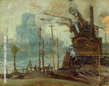 Montreal Harbour 1910 Painting By A Y Jackson - Reproduction Gallery