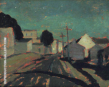 Moonlight Sainte Anne de Beaupre 1925 By A Y Jackson