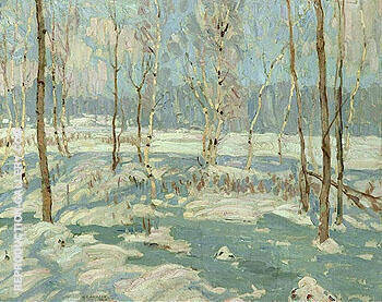 Morning After Sleet 1913 By A Y Jackson - Oil Paintings & Art Reproductions - Reproduction Gallery