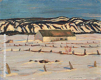 Morning Saint Simon de Rimouski 1939 By A Y Jackson - Oil Paintings & Art Reproductions - Reproduction Gallery