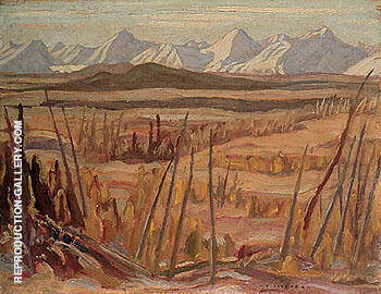 Mountains on the West Side of Haines Road 1943 By A Y Jackson