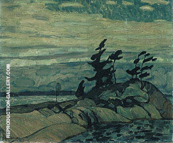 Night Georgian Bay 1913 By A Y Jackson Replica Paintings on Canvas - Reproduction Gallery