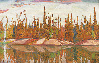 Reproduction of Northern Lake 1928 by A Y Jackson | Oil Painting Replica On CanvasReproduction Gallery