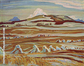 October Twin Butte Alberta 1951 By A Y Jackson Replica Paintings on Canvas - Reproduction Gallery