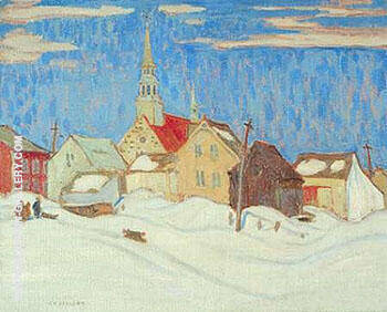 Quebec Village 1921 Painting By A Y Jackson - Reproduction Gallery