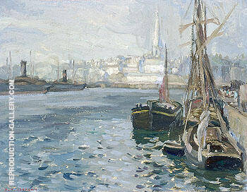 Saint Malo from the Basin 1911 By A Y Jackson Replica Paintings on Canvas - Reproduction Gallery