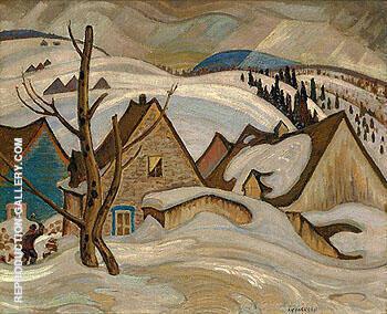 Saint Tite des Caps c1925 By A Y Jackson