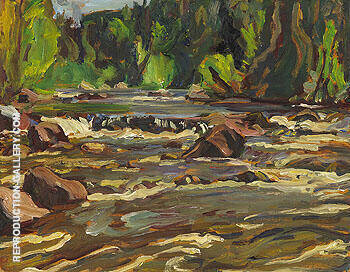 Stream Bed Lake Superior Country 1955 By A Y Jackson - Oil Paintings & Art Reproductions - Reproduction Gallery