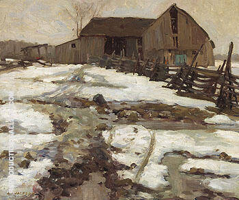 Sweetsburg Quebec 1910 By A Y Jackson - Oil Paintings & Art Reproductions - Reproduction Gallery