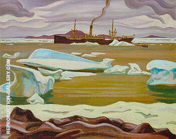 The Beothic at Bache Post Ellesmere Island 1929 By A Y Jackson