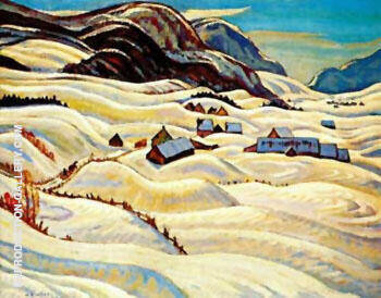 Valley of the Gouffre River By A Y Jackson Replica Paintings on Canvas - Reproduction Gallery