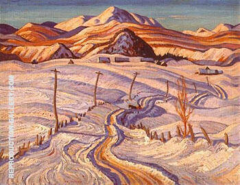 Winter Charlevoix Country By A Y Jackson - Oil Paintings & Art Reproductions - Reproduction Gallery