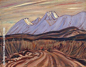 The Highway near Kluane Lake 1943 By A Y Jackson - Oil Paintings & Art Reproductions - Reproduction Gallery