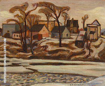 The Yamaska River at Saint Hyacinthe c1934 By A Y Jackson
