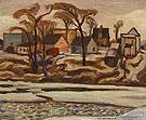 The Yamaska River at Saint Hyacinthe c1934 By A Y Jackson