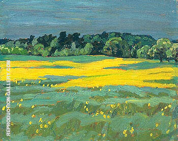 Wild Mustard Brockville 1922 By A Y Jackson - Oil Paintings & Art Reproductions - Reproduction Gallery