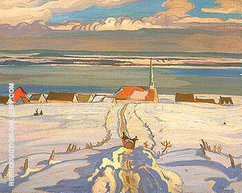 Reproduction of Winter Quebec 1926 by A Y Jackson | Oil Painting Replica On CanvasReproduction Gallery