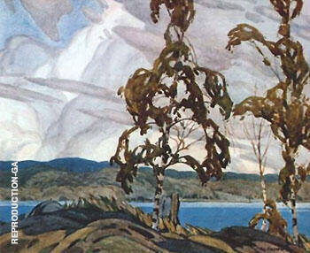 A Breezy Day By A J Casson - Oil Paintings & Art Reproductions - Reproduction Gallery