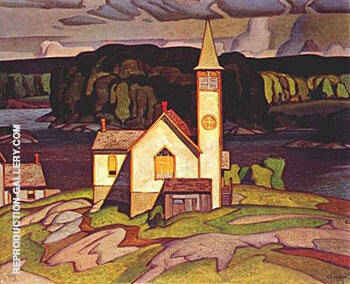 Anglican Church at Magnetawan By A J Casson Replica Paintings on Canvas - Reproduction Gallery