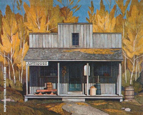 Antique Store By A J Casson Replica Paintings on Canvas - Reproduction Gallery