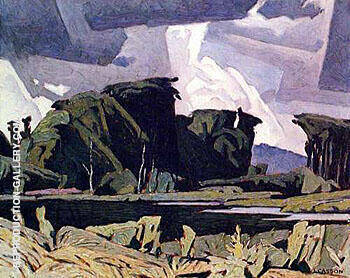 Reproduction of Bancroft by A J Casson | Oil Painting Replica On CanvasReproduction Gallery