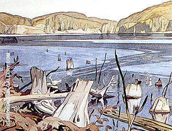 Baptiste Lake By A J Casson - Oil Paintings & Art Reproductions - Reproduction Gallery