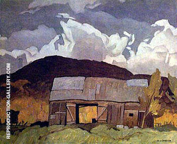 Barn at Pointe au Chene By A J Casson - Oil Paintings & Art Reproductions - Reproduction Gallery