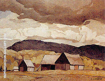Reproduction of Barn Near Quadville by A J Casson | Oil Painting Replica On CanvasReproduction Gallery
