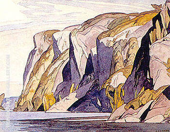 Bon Echo Rock Painting By A J Casson - Reproduction Gallery
